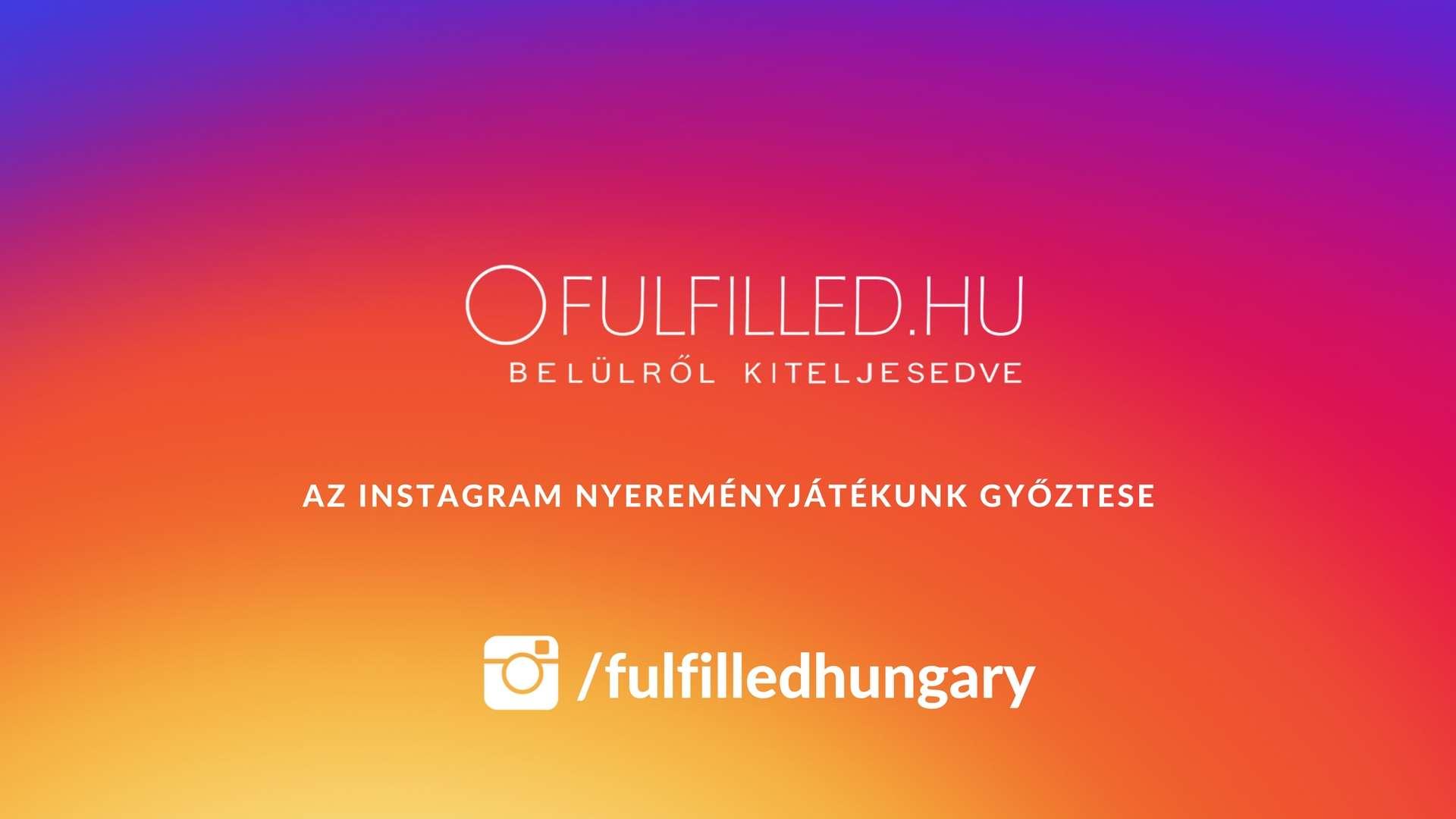 az első instagram nyereményjátékunk győztese